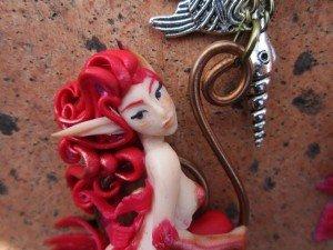 Sirena in fimo realizzata da La figlia del brigante