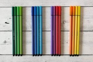 pennarelli e palette